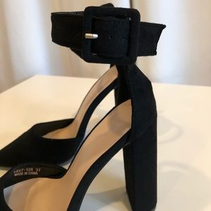 d97e821e81 SHEIN Shoes   Pointed Toe Ankle Strap Block Heels   Poshmark